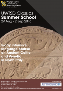 Classics Summer School in Celtic and Venetic @ Lampeter Campus