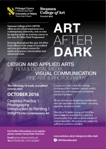 Art After Dark Courses @ Alex Design Exchange & Dynevor