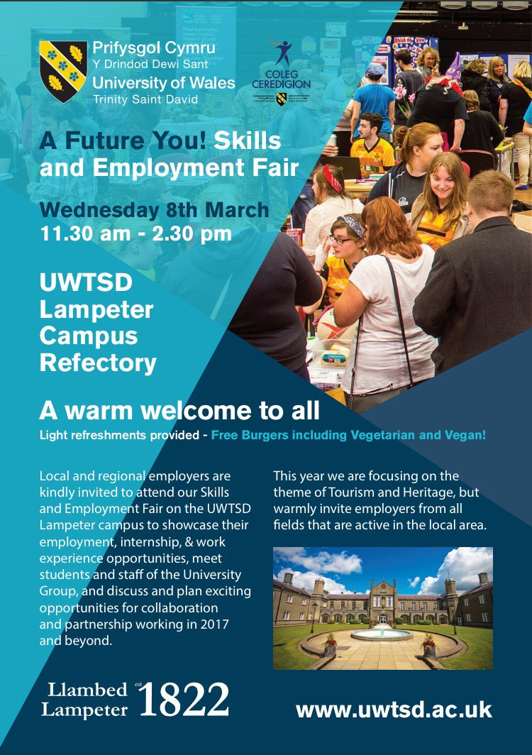 A Future You! Skills and Employment Fair @ UWTSD Lampeter Campus Refectory | Wales | United Kingdom